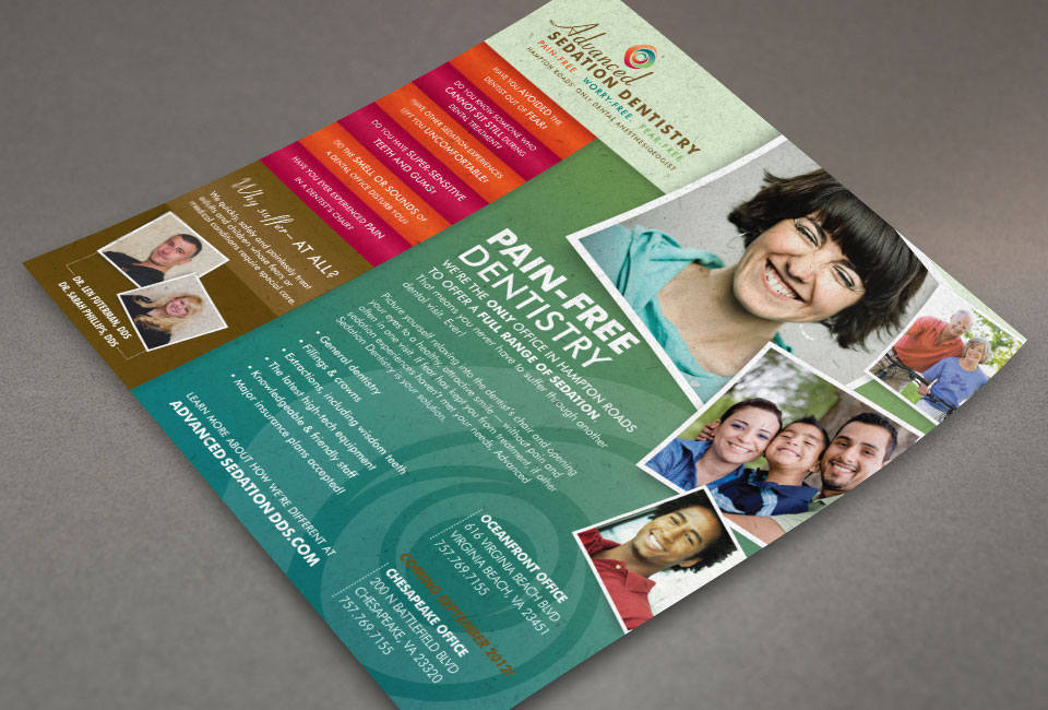 Advanced Sedation Dentistry brochure design by Red Chalk Studios