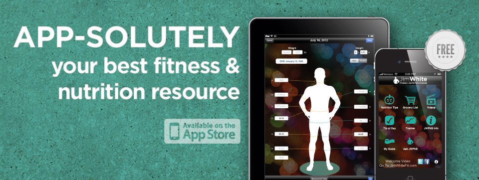 Jim White Fitness & Nutrition Studios mobile app design by Red Chalk Studios