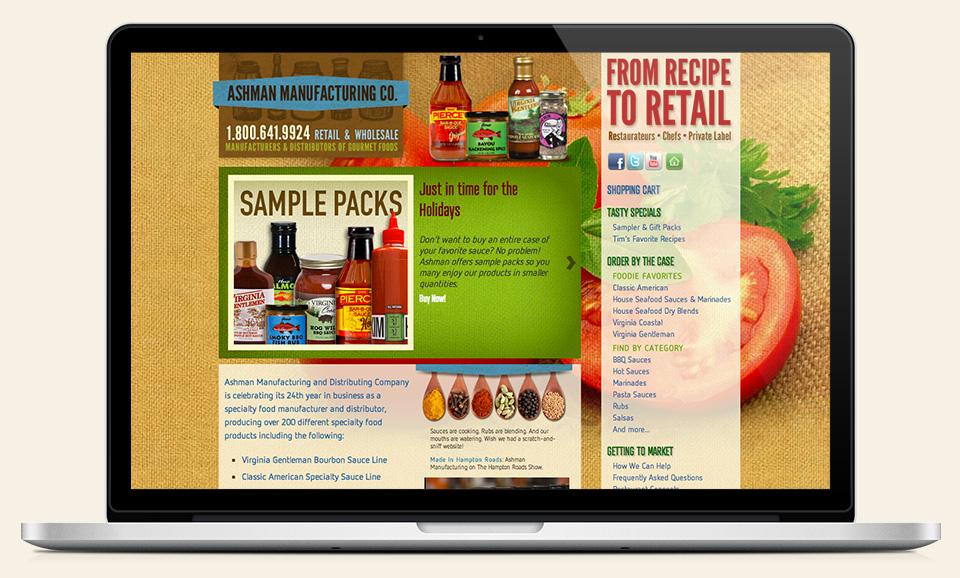 Ashman Manufacturing website design & development by Red Chalk Studios