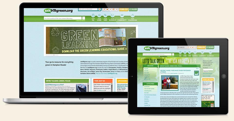 askHRgreen.org website design & development by Red Chalk Studios