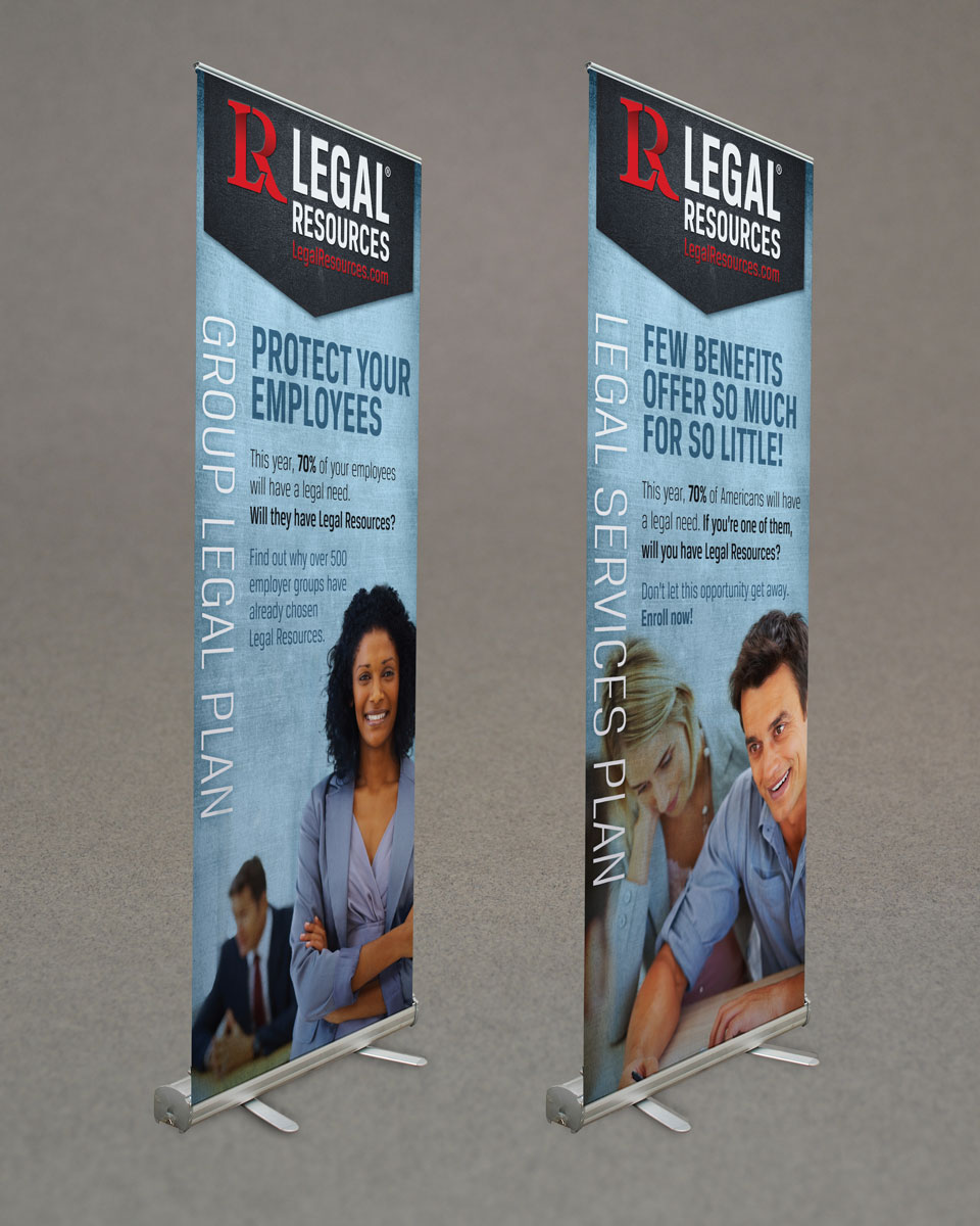 Legal Resources branding & banner design by Red Chalk Studios