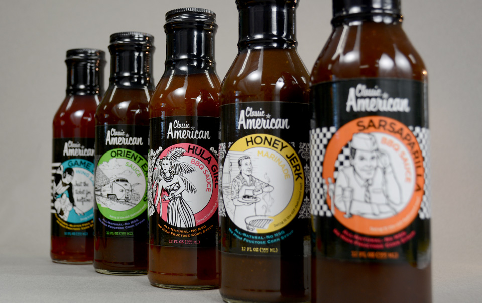 Ashman Manufacturing Classic American Sauces label design by Red Chalk Studios