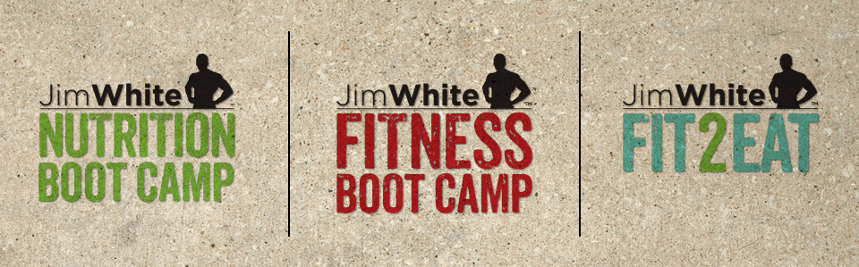 Jim White Fitness & Nutrition Studios logo design by Red Chalk Studios