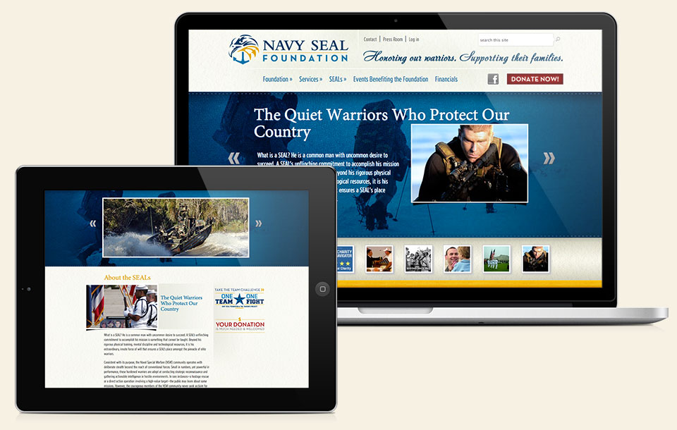 The Navy SEAL Foundation branding, logo design & website design by Red Chalk Studios
