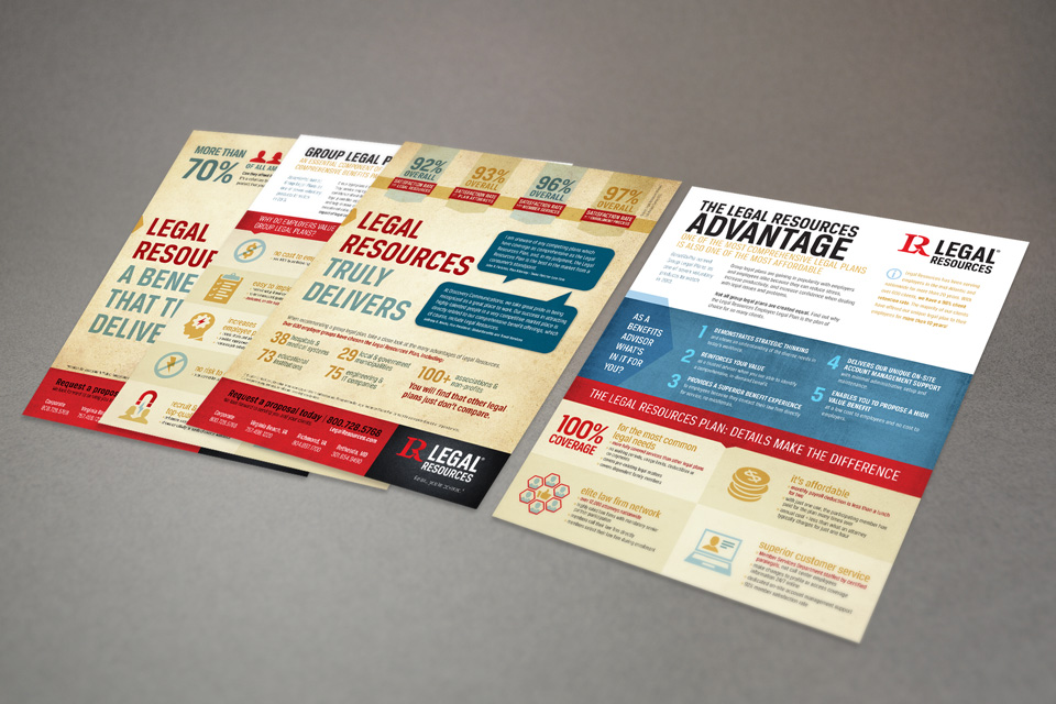 Legal Resources branding & sales sheet design by Red Chalk Studios