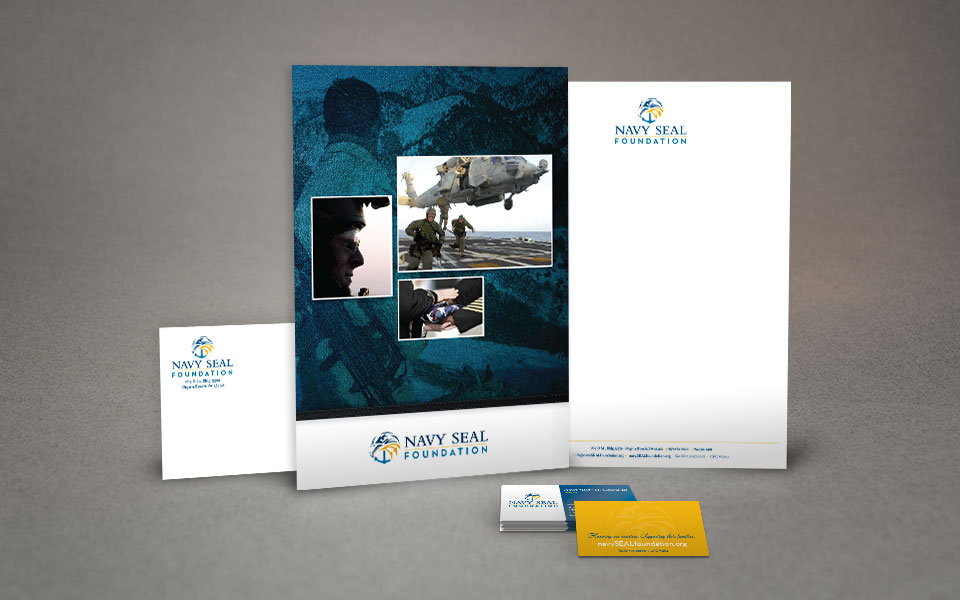 The Navy SEAL Foundation corporate identity design by Red Chalk Studios
