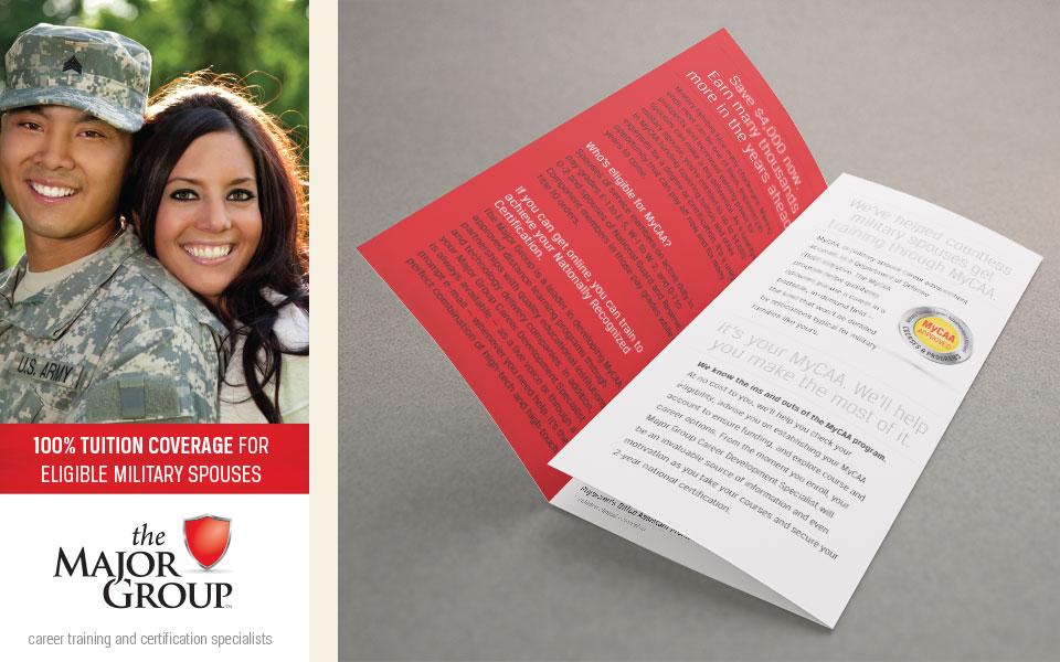 The Major Group branding & brochure design by Red Chalk Studios