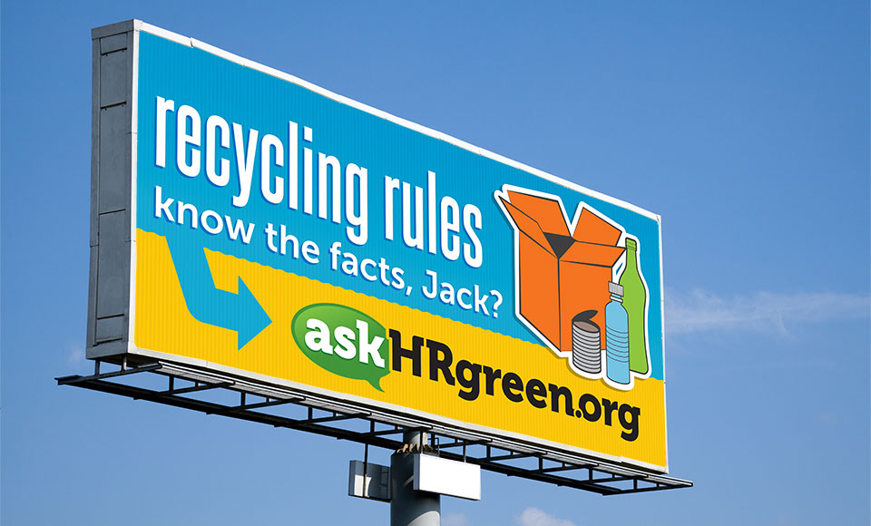askHRgreen.org outdoor advertising & billboard design by Red Chalk Studios