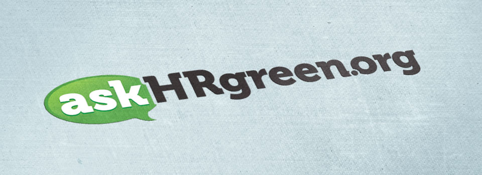 askHRgreen.org logo design by Red Chalk Studios