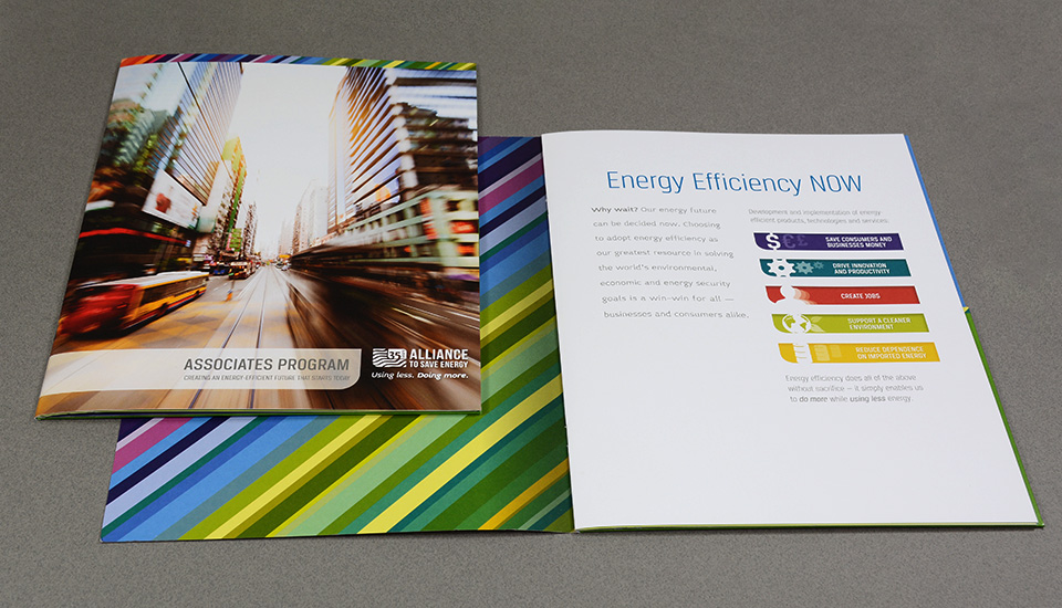 Alliance to Save Energy branding & brochure design by Red Chalk Studios