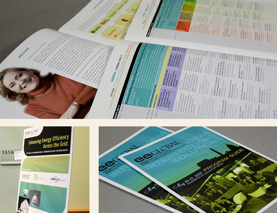 Energy Efficiency Global Forum branding, banner & brochure design by Red Chalk Studios
