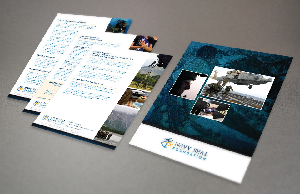 The Navy SEAL Foundation brochure design by Red Chalk Studios