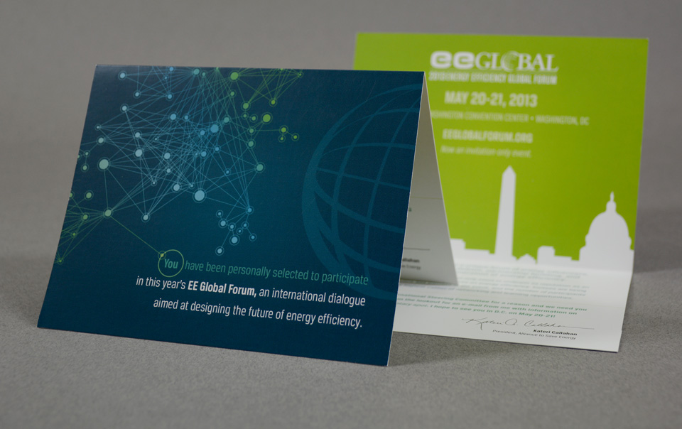 Energy Efficiency Global Forum branding & invitation design by Red Chalk Studios