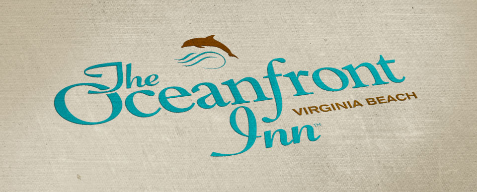 Oceanfront Inn logo design by Red Chalk Studios