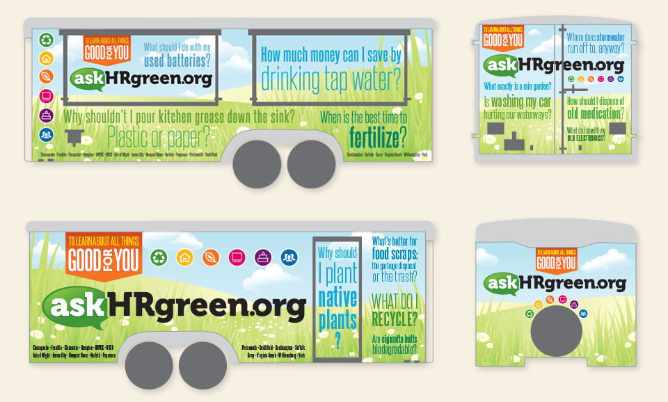 askHRgreen.org trailer wrap design by Red Chalk Studios