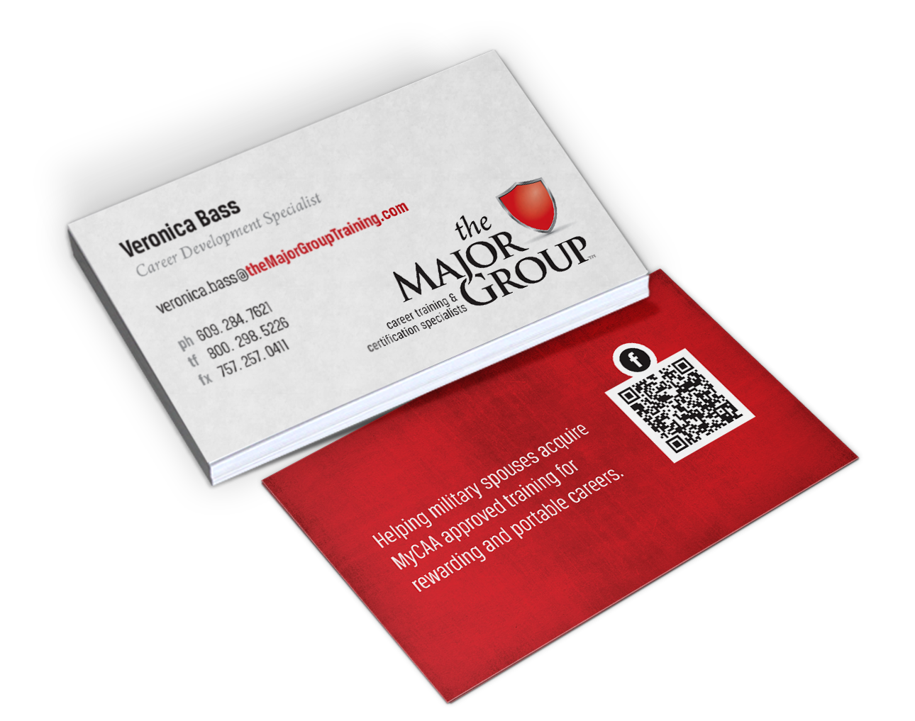 The Major Group business card design by Red Chalk Studios