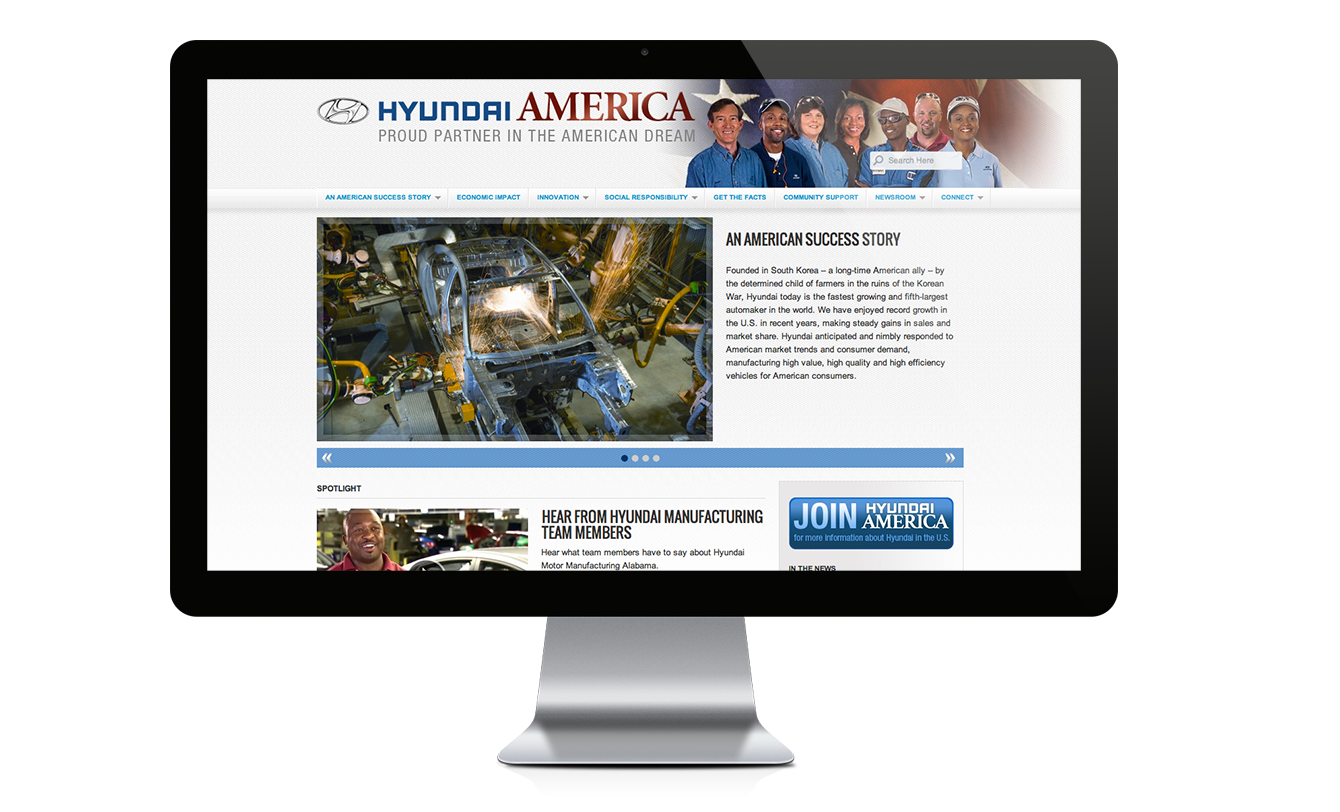 Hyundai America website design & development by Red Chalk Studios
