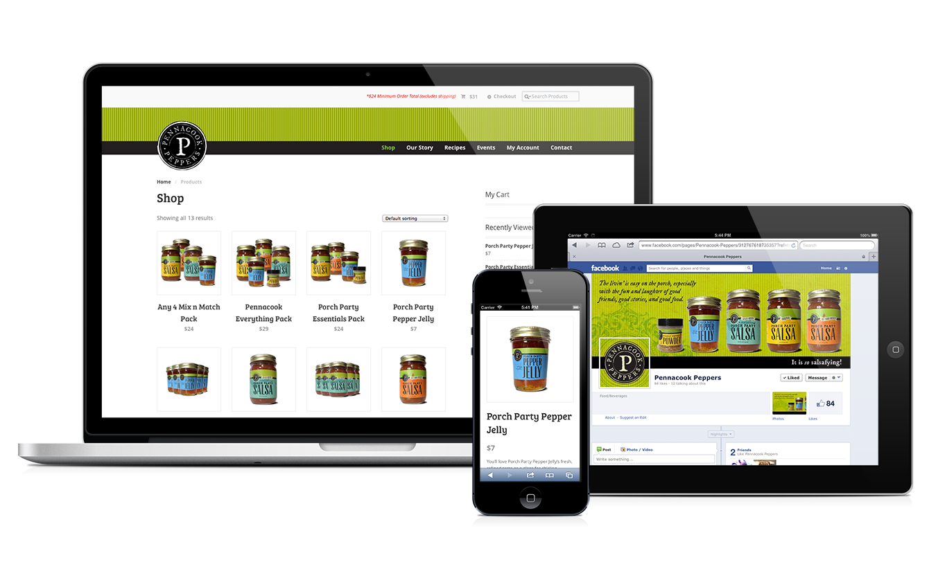 Pennacook Peppers responsive website design & development by Red Chalk Studios