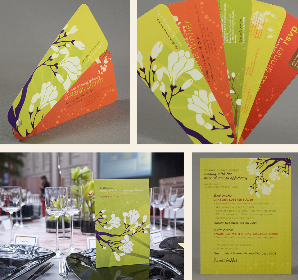 Alliance to Save Energy - Energy Efficiency Awards Dinner invitation design & collateral by Red Chalk Studios