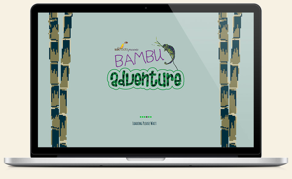 Sak Roots Bambu Adventure online game design & development by Red Chalk Studios