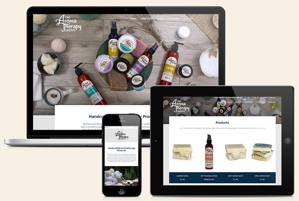 Red Chalk Studios : The Aromatherapy Shoppe Website