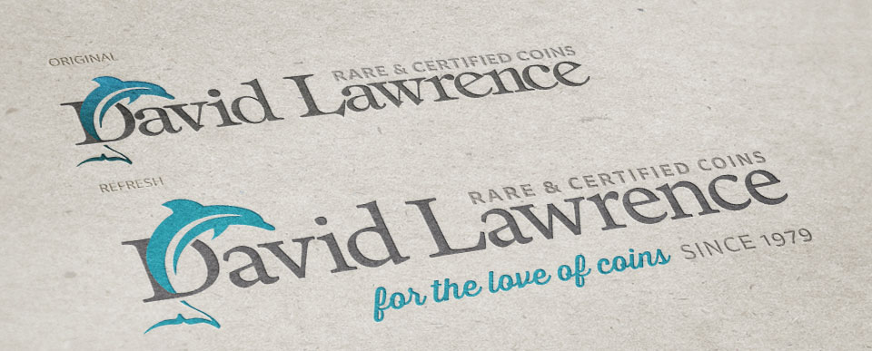 Red Chalk Studios : David Lawrence Rare Coins Logo