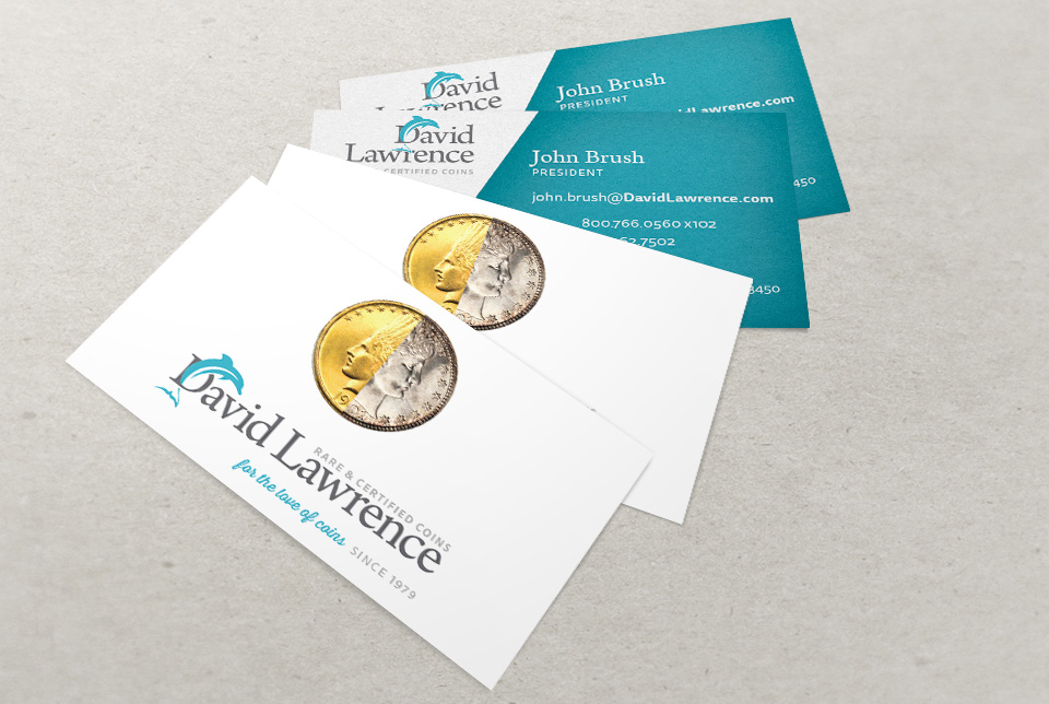 Red Chalk Studios : David Lawrence Rare Coins Business Cards