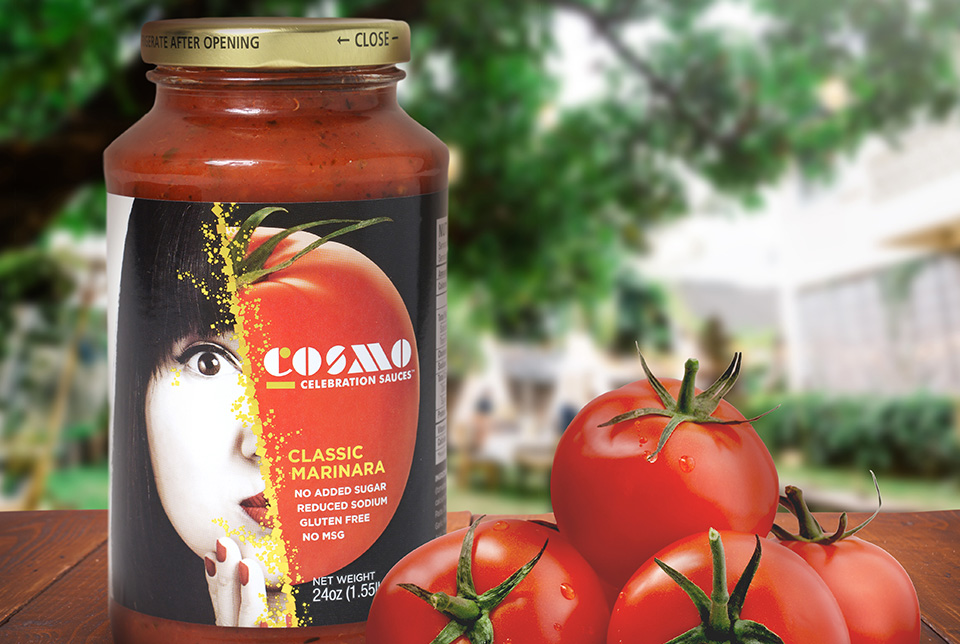 Red Chalk Studios : Cosmo Celebration Sauces Label Design