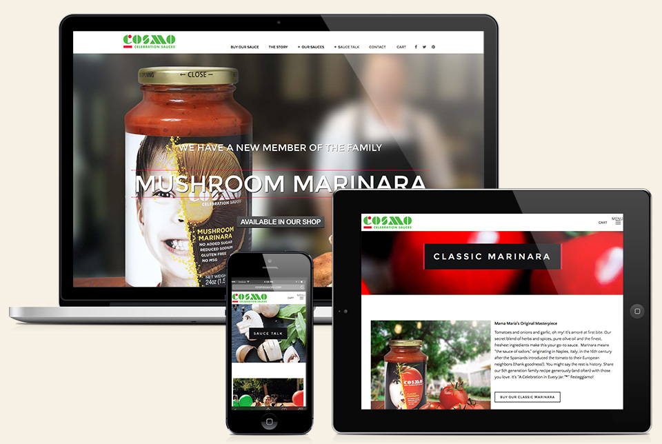 Red Chalk Studios : Cosmo Celebration Sauces Website