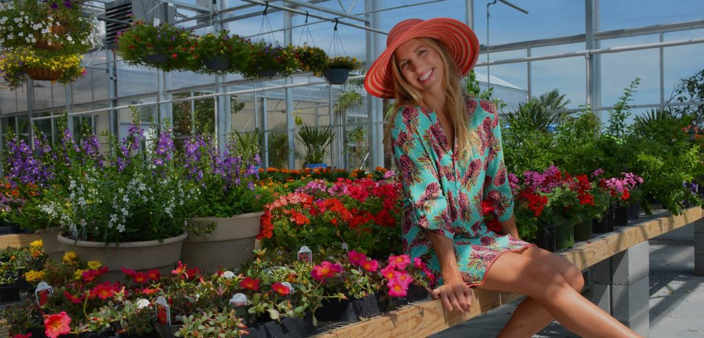 Red Chalk Studios fashion photography in Anderson's greenhouse