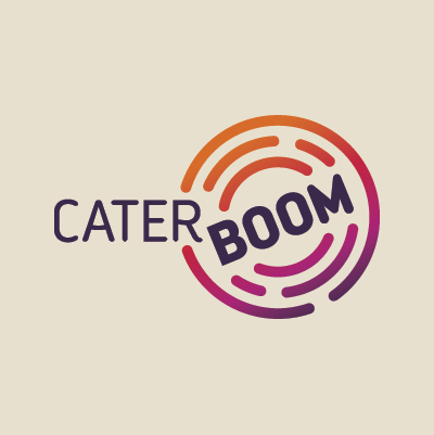 Cater Boom name & logo design by Red Chalk Studios