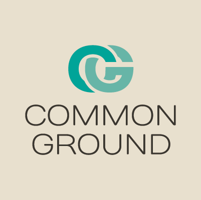 Spring Brand Church's Common Ground logo design by Red Chalk Studios