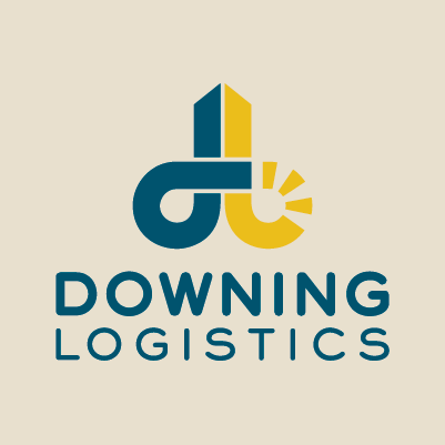 Downing Logistics logo design by Red Chalk Studios