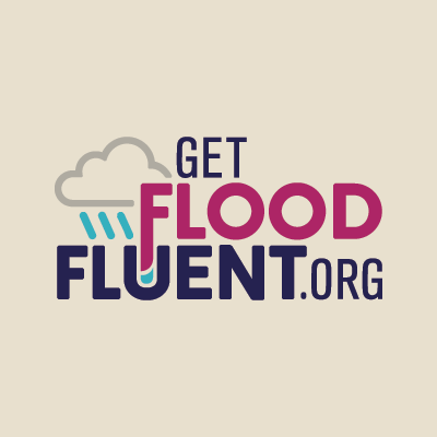 Get Flood Fluent name and logo design by Red Chalk Studios
