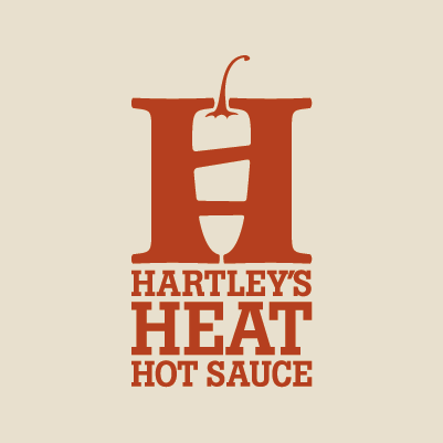 Hartley's Heat Hot Sauce logo design by Red Chalk Studios