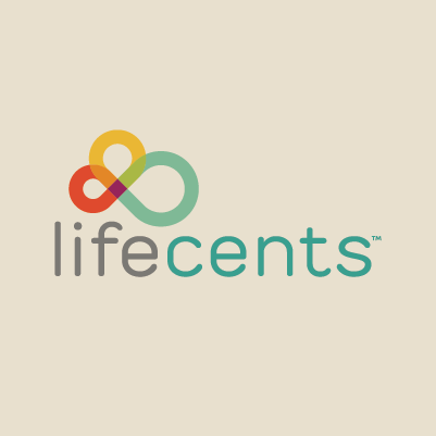 LifeCents logo design by Red Chalk Studios