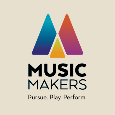 Music Makers logo design by Red Chalk Studios