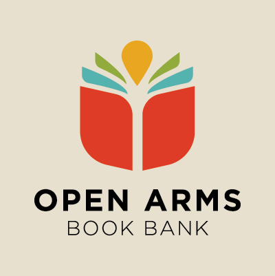 Open Arms Book Bank logo design by Red Chalk Studios