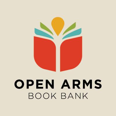 Red Chalk Studios designs Open Arms Book Bank logo