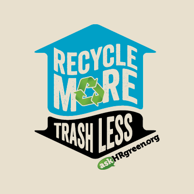 Red Chalk Studios designs askHRgreen.org's Recycle More Trash Less logo