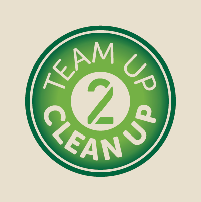 Team Up 2 Clean Up logo design by Red Chalk Studios