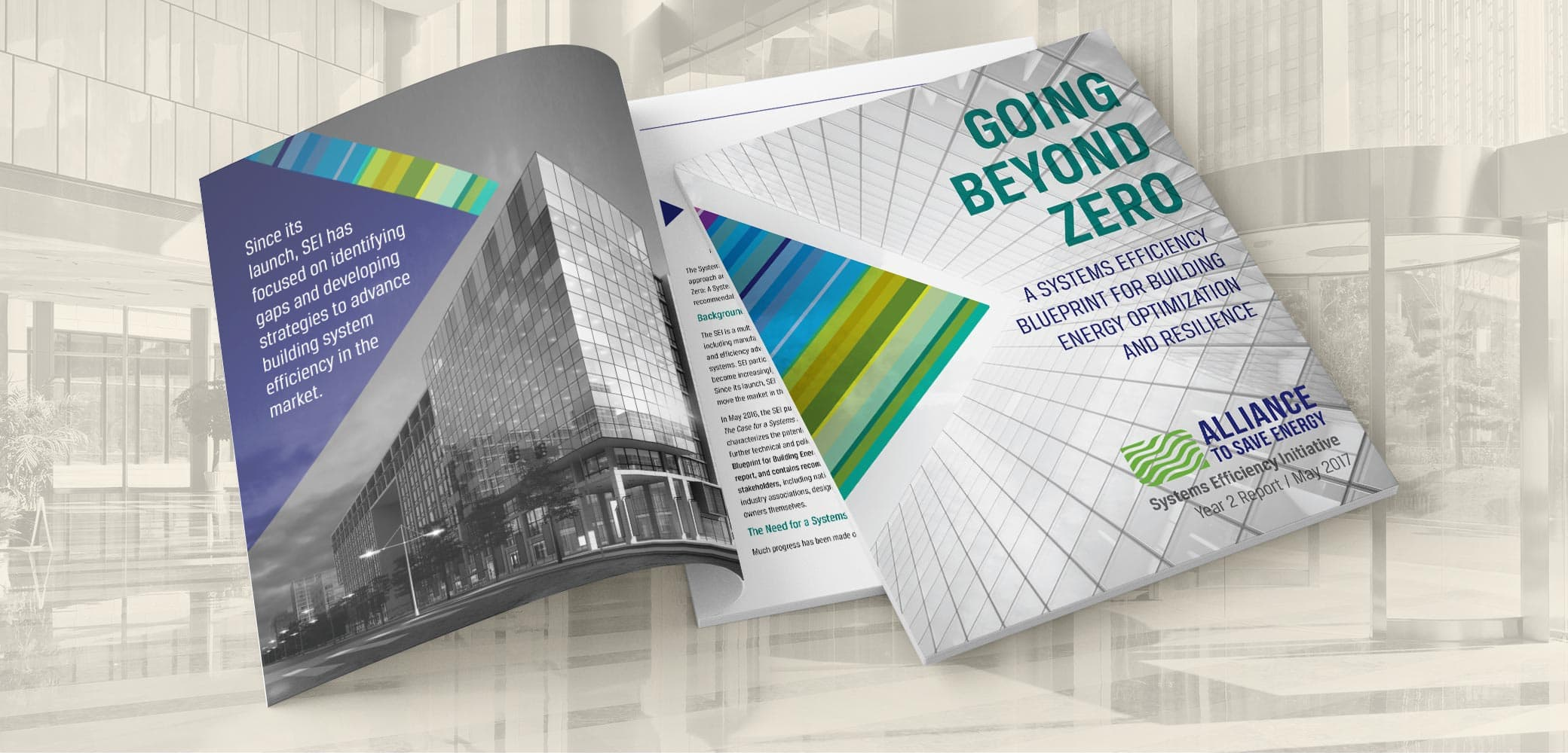 Alliance to Save Energy Systems Efficiency Report design by Red Chalk Studios