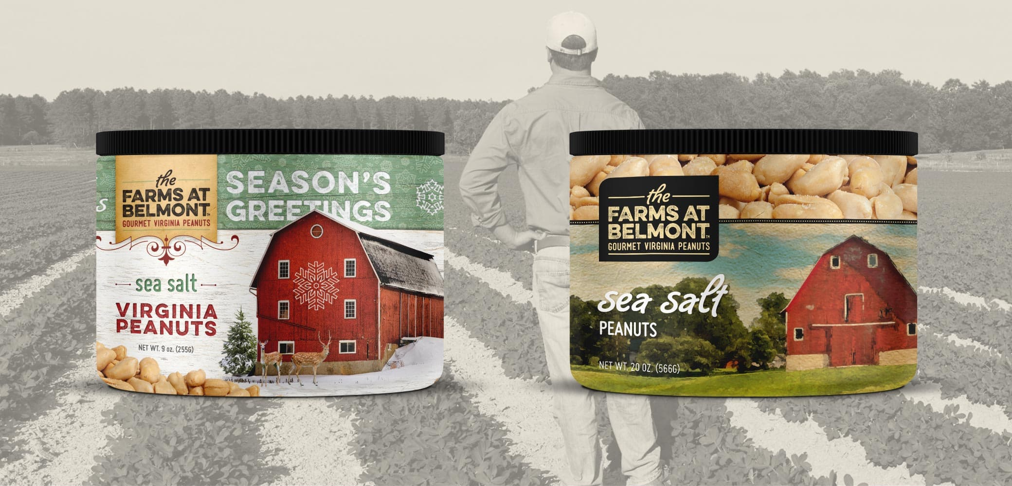 Belmont Peanuts Label Design by Red Chalk Studios