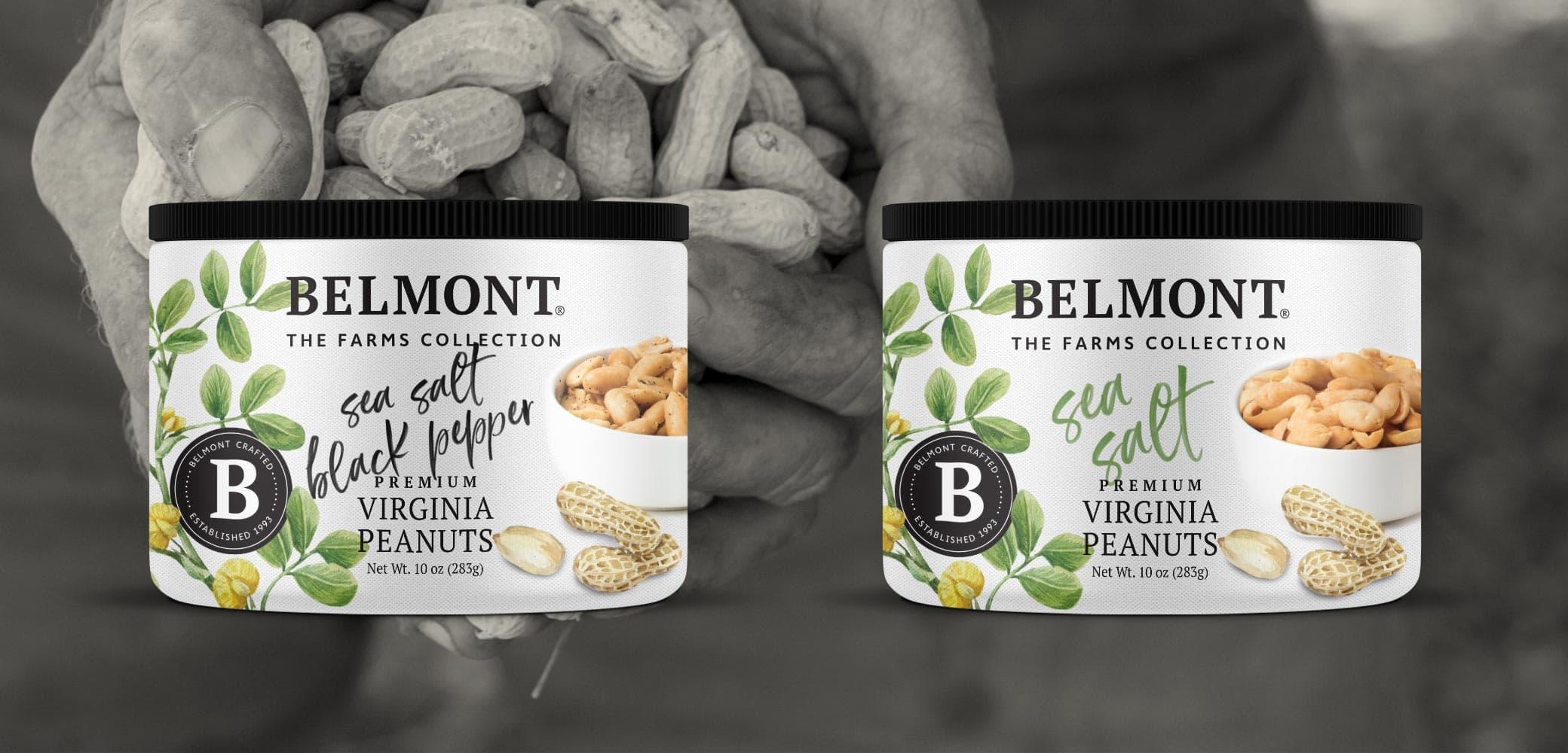 Belmont Peanuts Label Design by Red Chalk Studios
