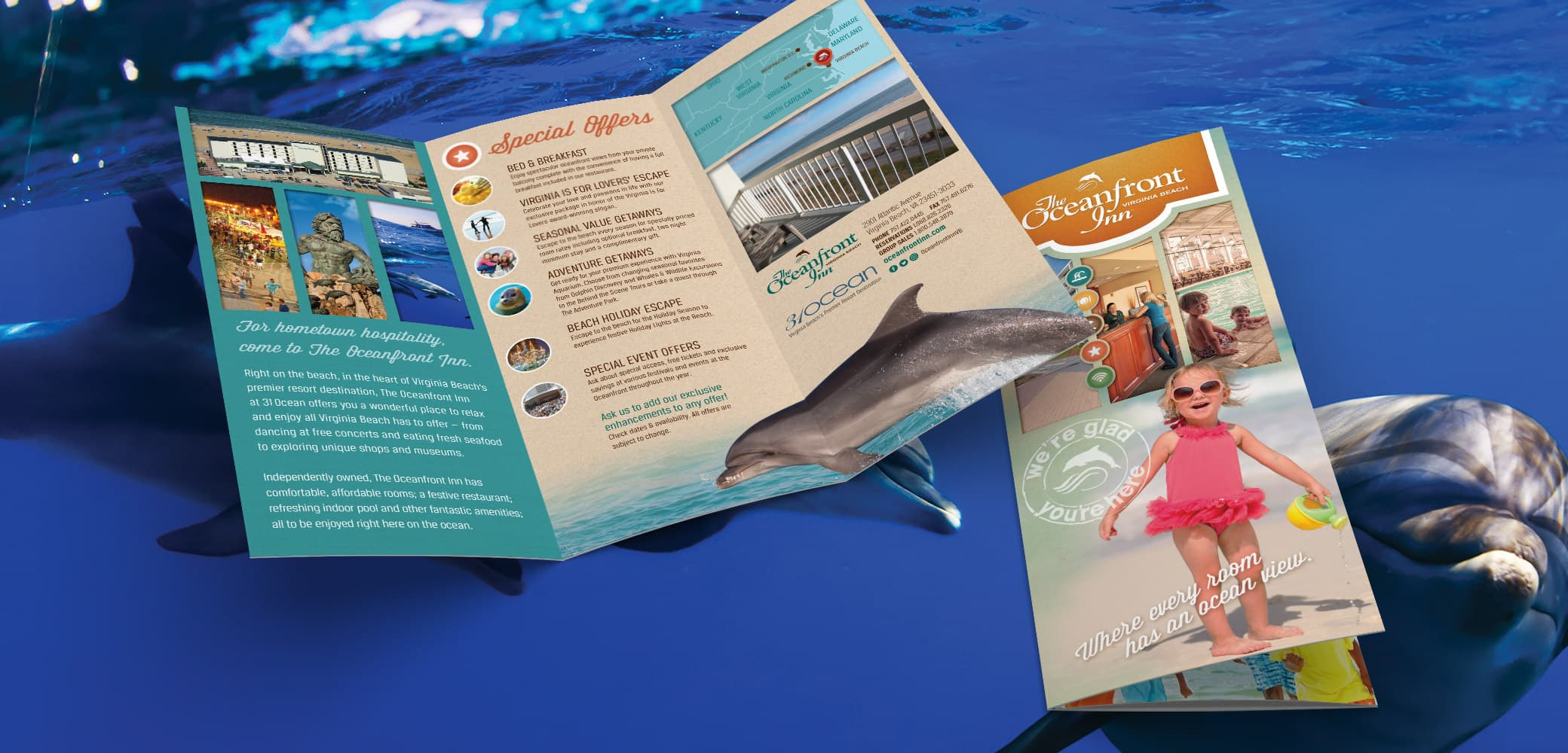 Oceanfront Inn Brochure Design by Red Chalk Studios