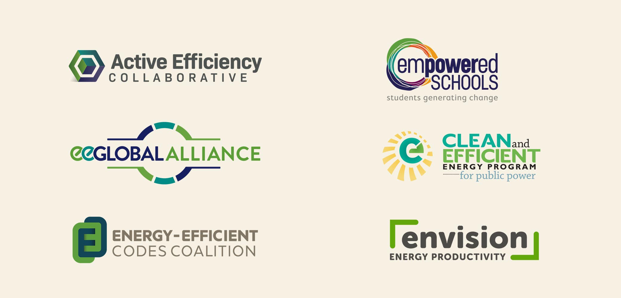 Alliance to Save Energy Program Logos designed by Red Chalk Studios