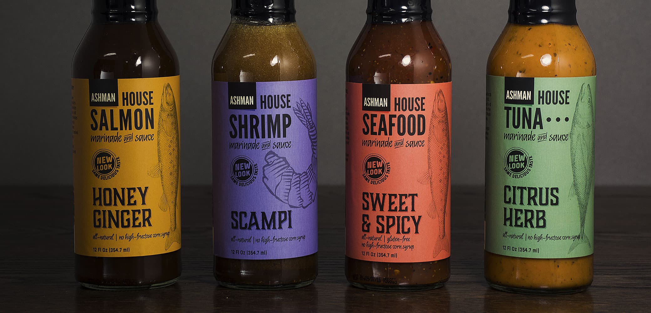 Ashman Manufacturing House Seafood Sauce Label Design by Red Chalk Studios