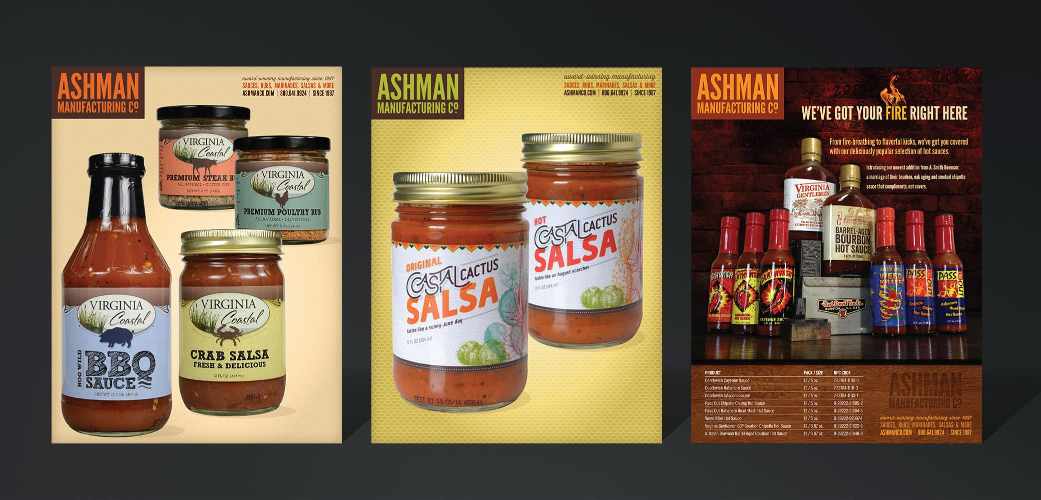 Ashman Manufacturing Sales Collateral Design by Red Chalk Studios