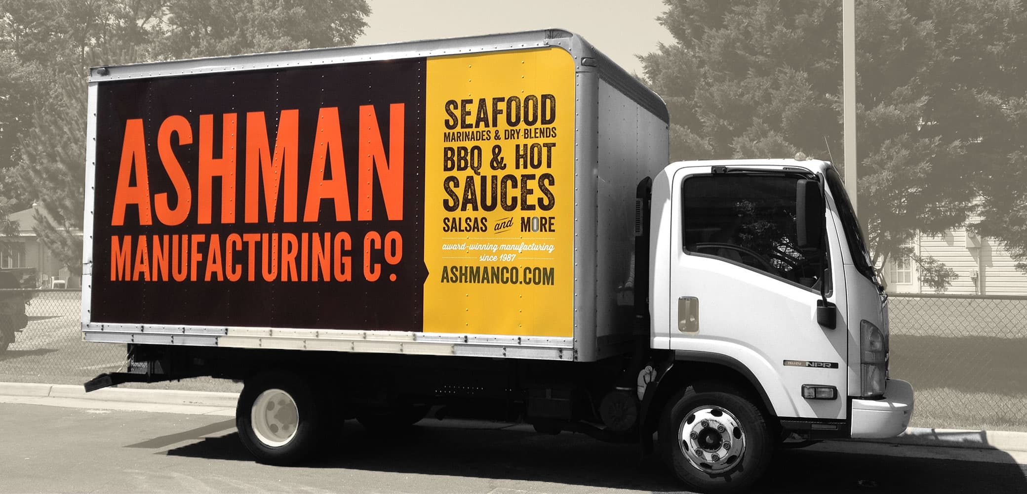 Ashman Manufacturing Truck Wrap Design by Red Chalk Studios