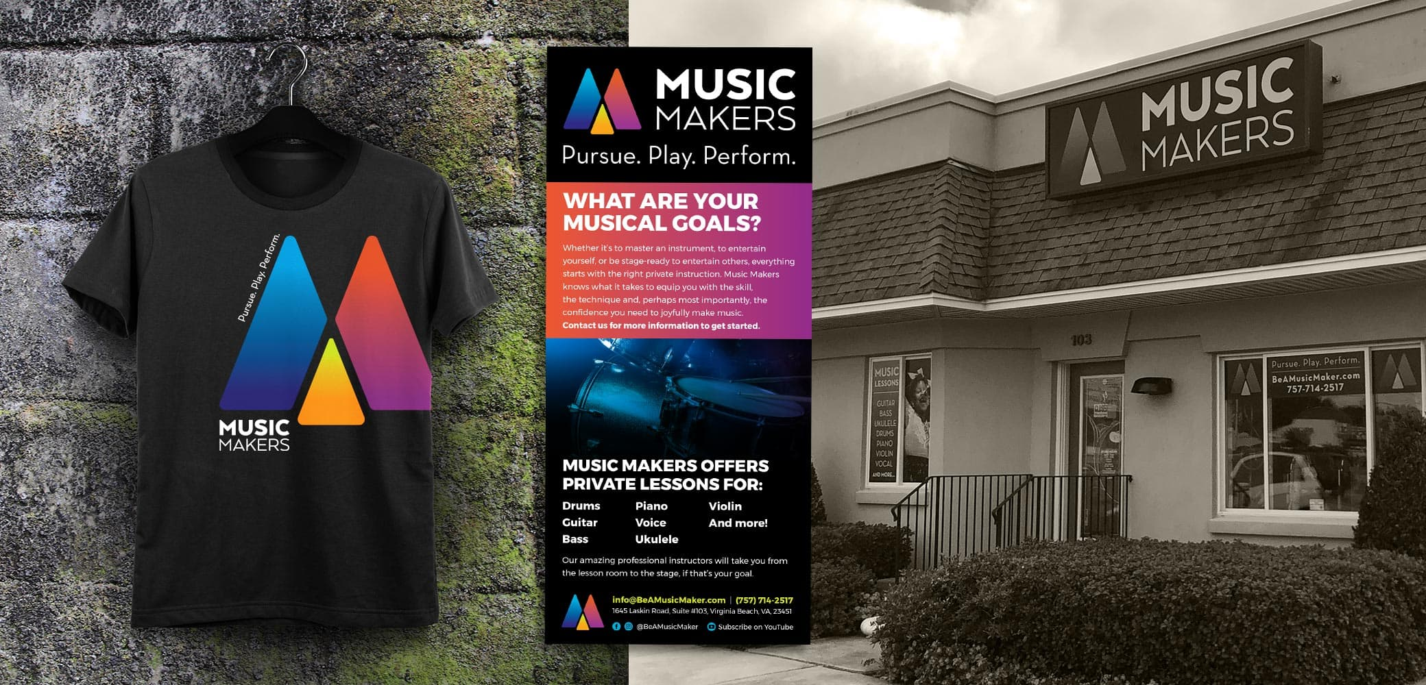 Music Makers Brand and Marketing Collateral Design by Red Chalk Studios